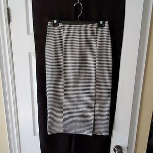 Pink Tartan Classic houndstooth pencil skirt